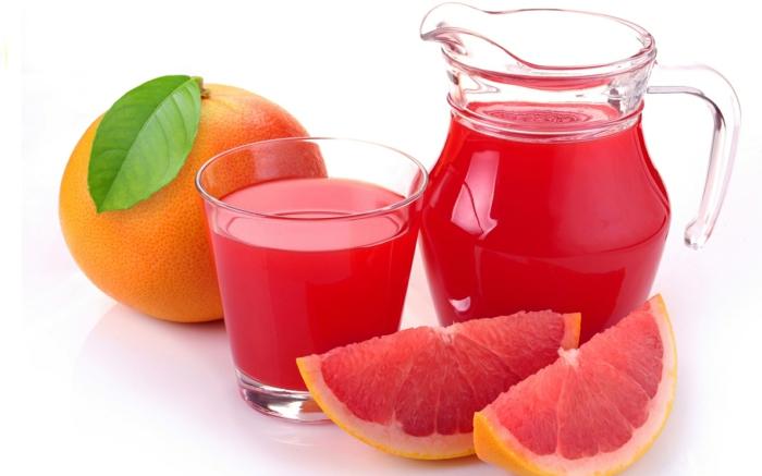 schnell und gesund abnehmen gesunde säfte frisch gepresst grapefruit