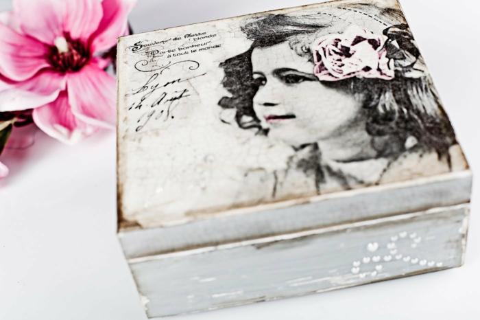 serviettentechnik decoupage papier schatulle geschenkbox personalisieren