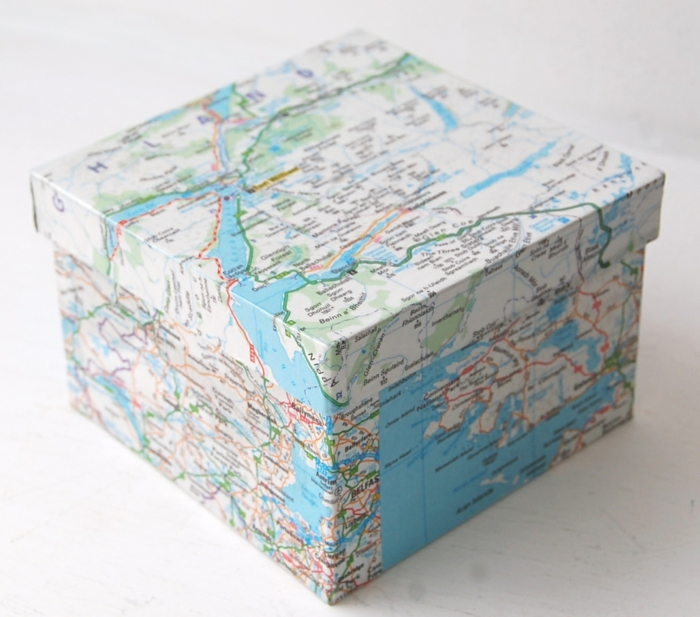 serviettentechnik decoupage papier vintage seife stadtplan box