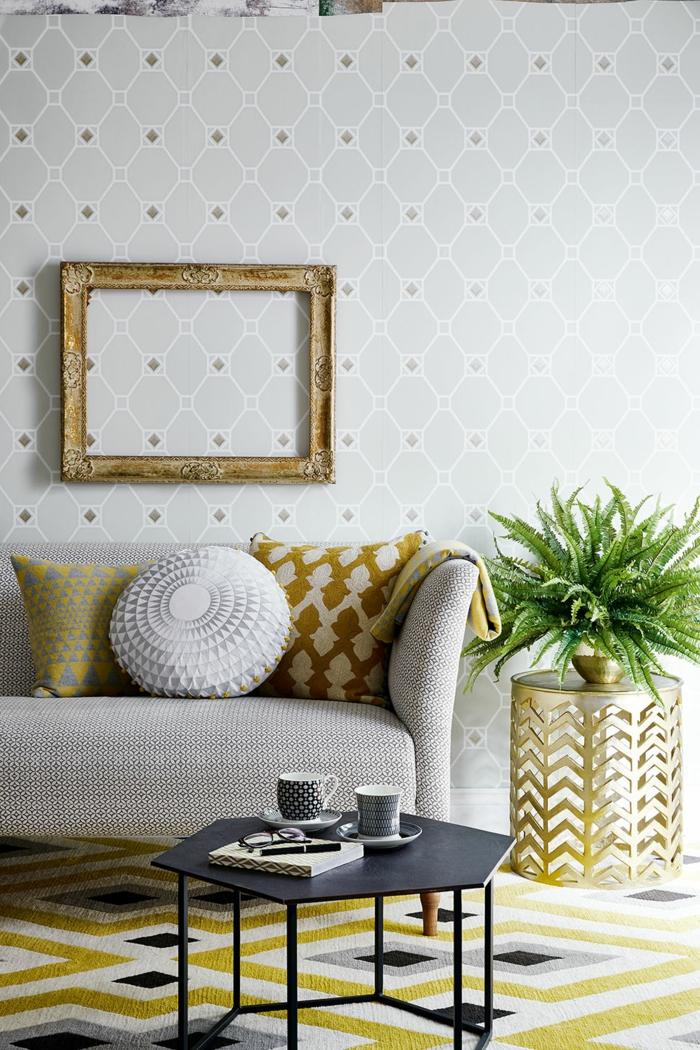 tapete wohnzimmer 2016:tapete muster wohnzimmer geometrische wandtapete wohnzimmerteppich