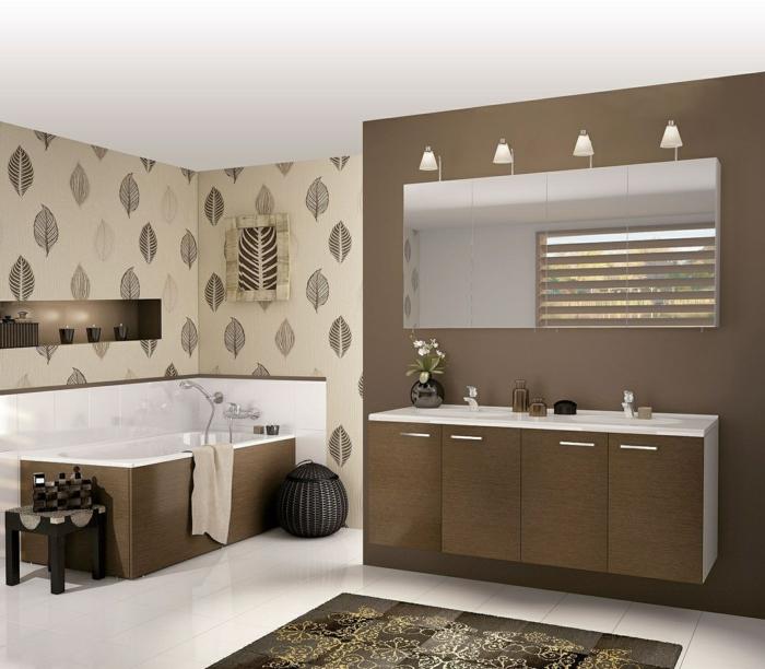 50 moderne tapete muster funktionelle m glichkeiten f r for Tapeten badezimmer beispiele
