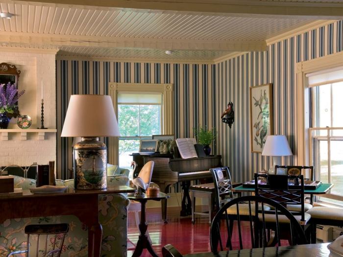 moderne tapetenmuster wohnzimmer ihr traumhaus ideen