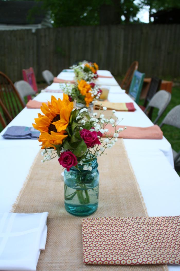 Tischdeko Für Gartenparty