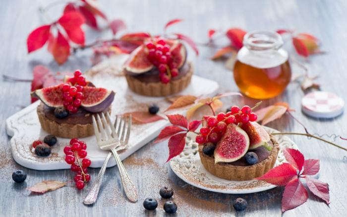trennkost ernährung gesund frisches obst johannisbeeren blaubeeren honig kuchen