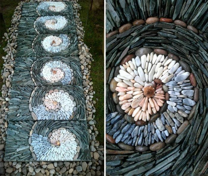 trockenmauer natursteine mauerwerk mauerer flusssteine steinmosaik