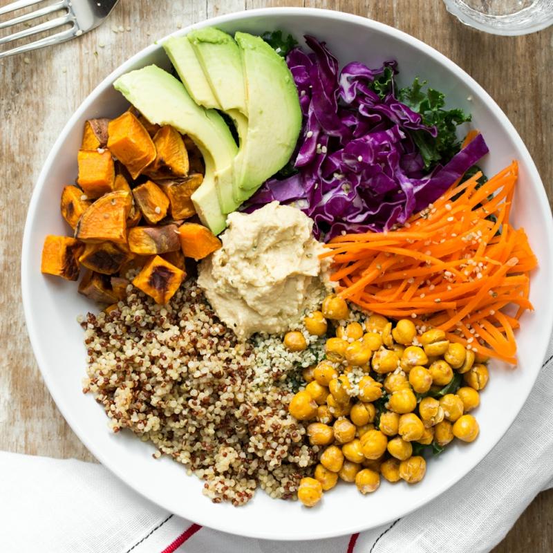 vegane Ernährung gesund Salat Veganismus