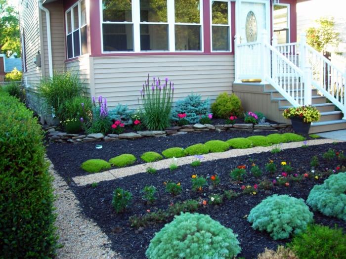 vorgarten anlegen sch ne ideen wie sie den vorgarten zum besseren umgestalten. Black Bedroom Furniture Sets. Home Design Ideas