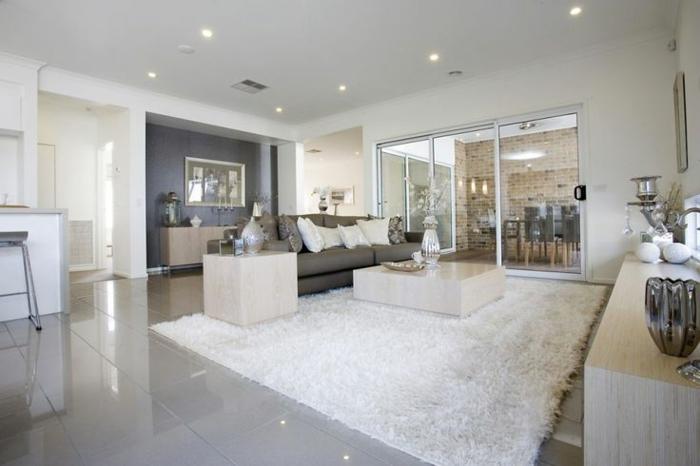 wohnzimmer naturfarben: weiß wohnideen wohnzimmer weißer teppich naturfarben bodenfliesen