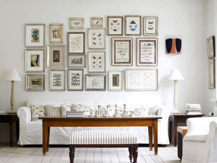 weiße wandfarbe wohnzimmer wanddeko dekokissen muster