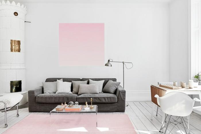 Wandfarbe wei 10 wichtige argumente f r ihre strahlende wanddekoration - Rose gold wandfarbe ...