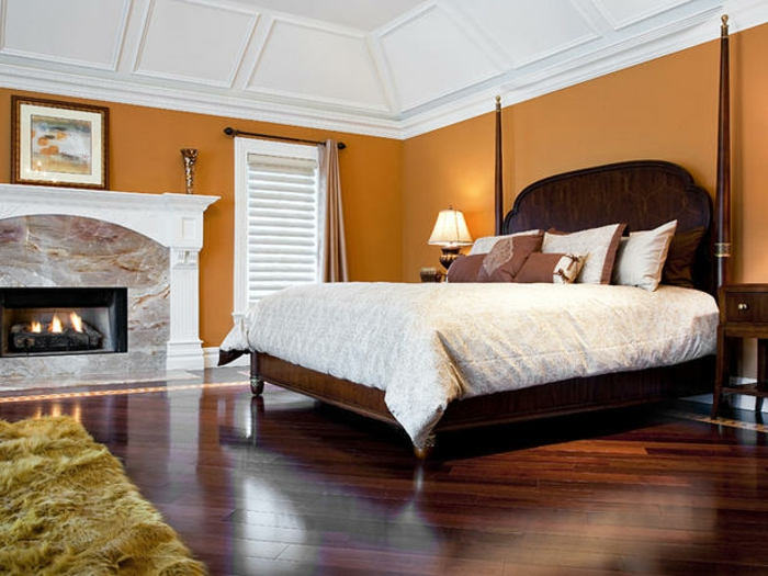 wandfarben 2016 trendfarbe goldocker wandgestaltung schlafzimmer wanddekoration