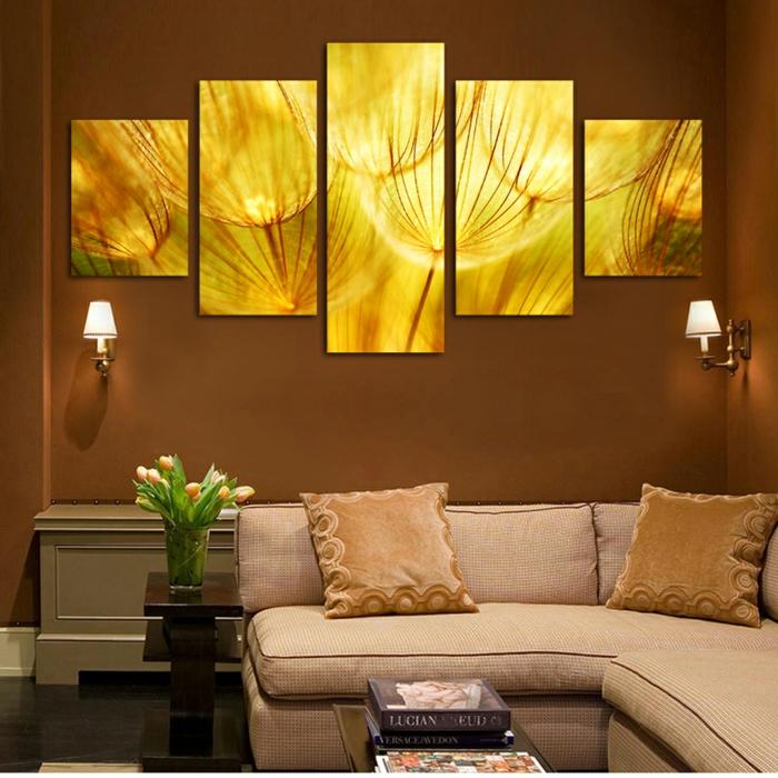 wandfarben 2016 trendfarben braune farbtöne wandgestaltung wanddekoration
