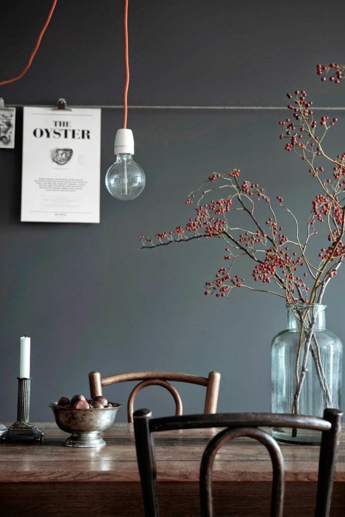 wandfarben 2016 trendfarben esszimmer küche farbgestaltung dunkelgrau wandfarbe tendenzen