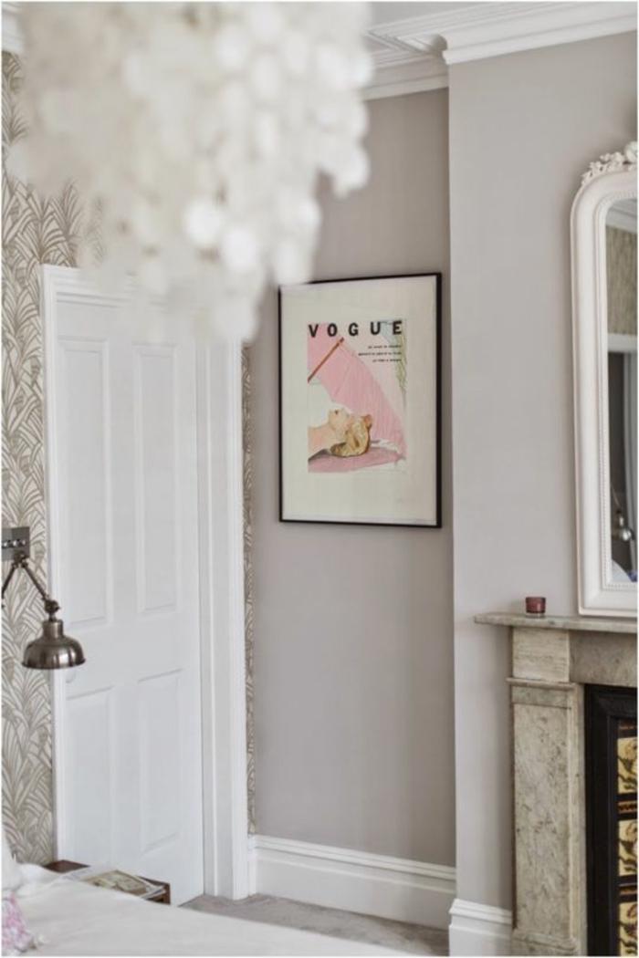 wandfarbe 2016 trendfarben wohnzimmer hellgrau neutrale farben kamin