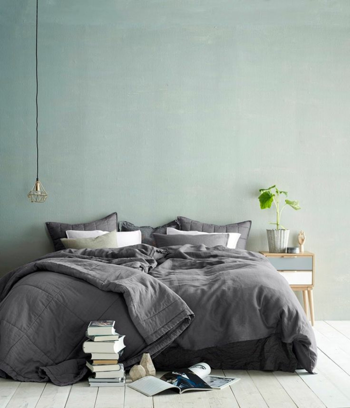 wandfarben schlafzimmer 2016 trendfarben pastellfarbe hellblau blaugrün