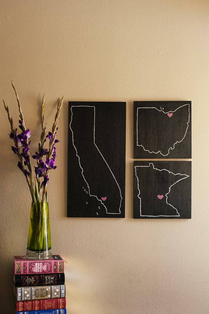 raumgestaltung kreidetafel diy deko ideen wandtafel wandgestaltung wandtafel pinwand wohnideen ornungssystem wandmalerei abstrakt
