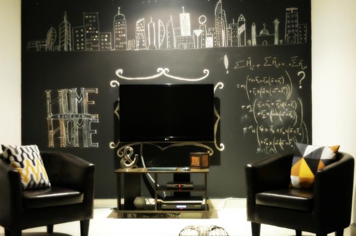 raumgestaltung kreidetafel diy deko ideen wandtafel wandgestaltung wandtafel pinwand wohnideen ornungssystem wandmalerei genie umfeld