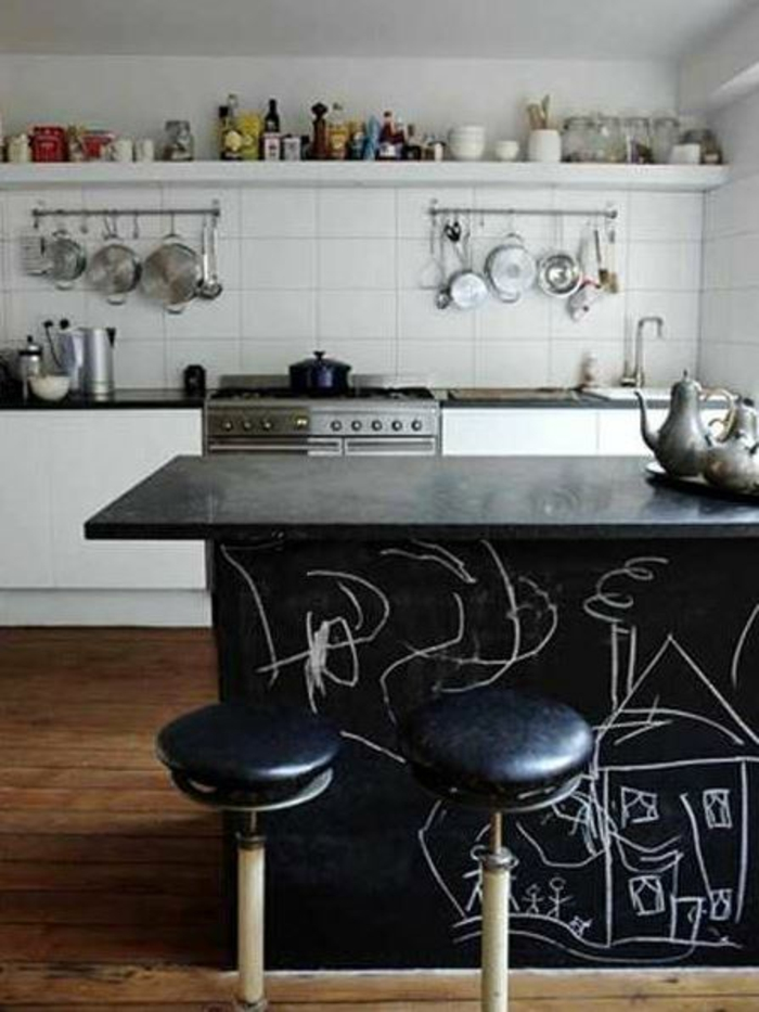 Raumgestaltung mit Kreidetafel- 39 originelle DIY Deko Ideen