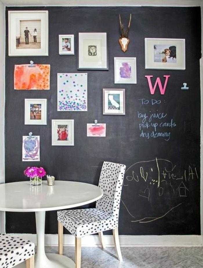 raumgestaltung kreidetafel diy deko ideen wandtafel wandgestaltung wandtafel wohnideen ornungssystem wandmalerei kombiniert