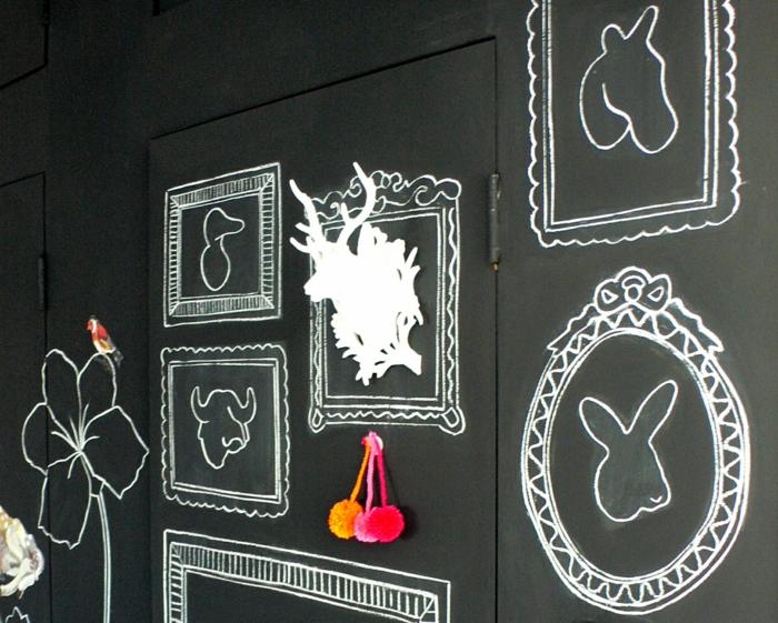 raumgestaltung kreidetafel diy deko ideen wandtafel wandgestaltung wandtafel pinwand wohnideen ornungssystem wandmalerei kreide malerei