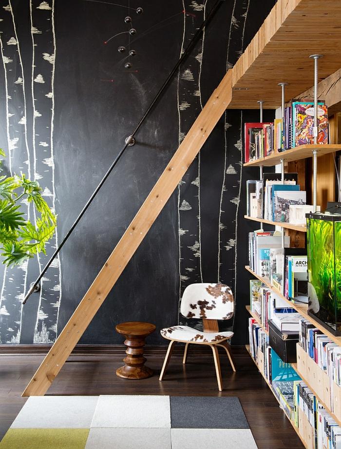 raumgestaltung kreidetafel diy deko ideen wandtafel wandgestaltung wandtafel pinwand wohnideen ornungssystem wandmalerei tür negativ birke