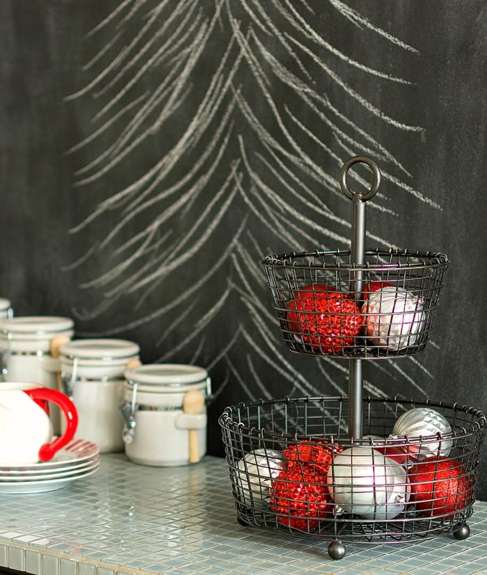 raumgestaltung kreidetafel diy deko ideen wandtafel wandgestaltung wandtafel pinwand wohnideen ornungssystem wandmalerei tannenbaum gezeichnet