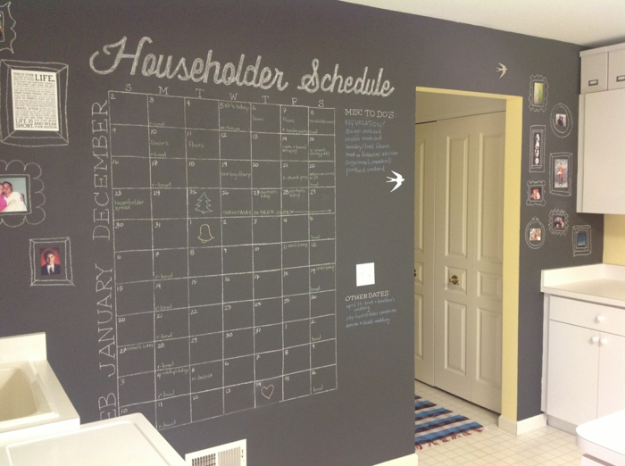 Wandgestaltung Mit Klebeband raumgestaltung mit kreidetafel- 39 originelle diy deko ideen