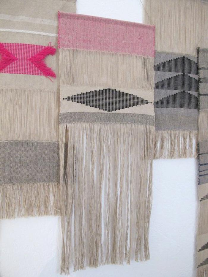 wanddeko wandgestaltung tapisserie hand gewoben kunst diy dekoideen