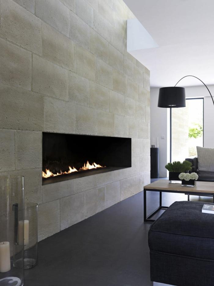 wandpaneel steinoptik archiexpo wohnzimmer kamin