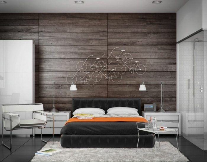63 wandpaneele holz die den raum ganz individuell erscheinen lassen. Black Bedroom Furniture Sets. Home Design Ideas