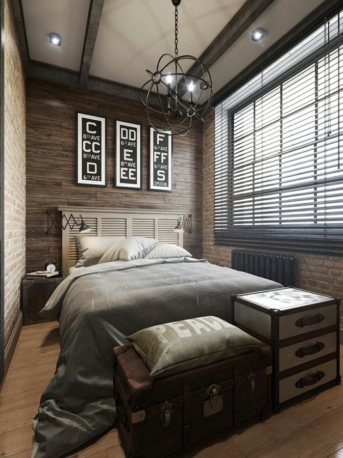 Wandpaneele Holz Schlafzimmer ~ wandpaneele holz schlafzimmer ziegelwand holzboden