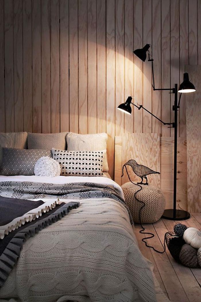 wandpaneele holz wohnzimmer holzboden gemütliches design