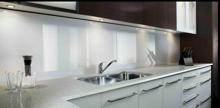 wandpaneele küche acryl weiß glänzend wohnideen küche