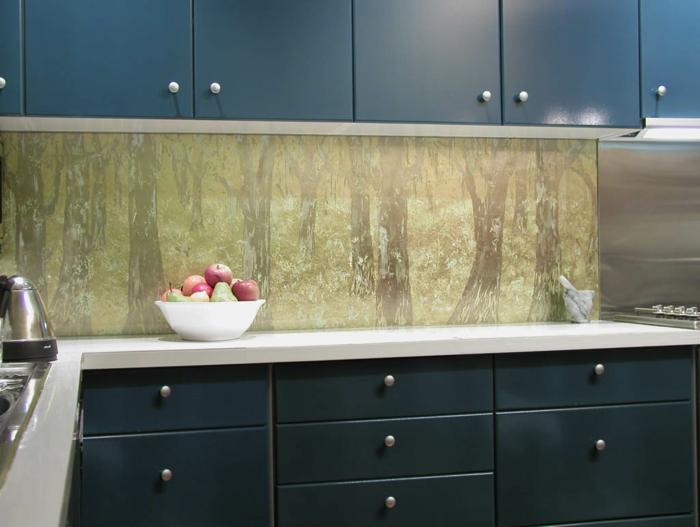 wandpaneele küche glas elegant wohnideen küche