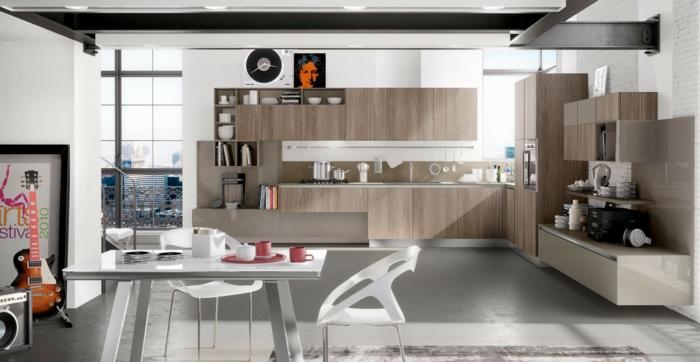 wandpaneele küche wohnideen küche modern essbereich