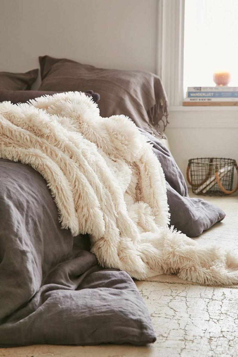 warme Bettwäsche braun Kuschedecke Winterbettwäsche