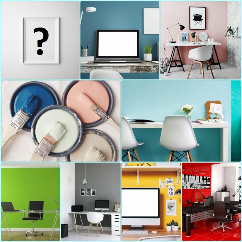 weiße Wandfarbe Arbeitszimmer Home Office Wandfarben kombinieren