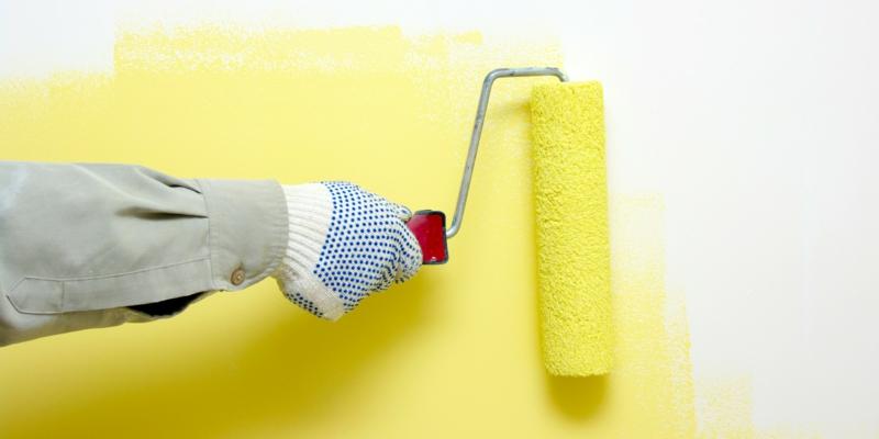 weiße Wandfarbe Arbeitszimmer gestalten Wände streichen