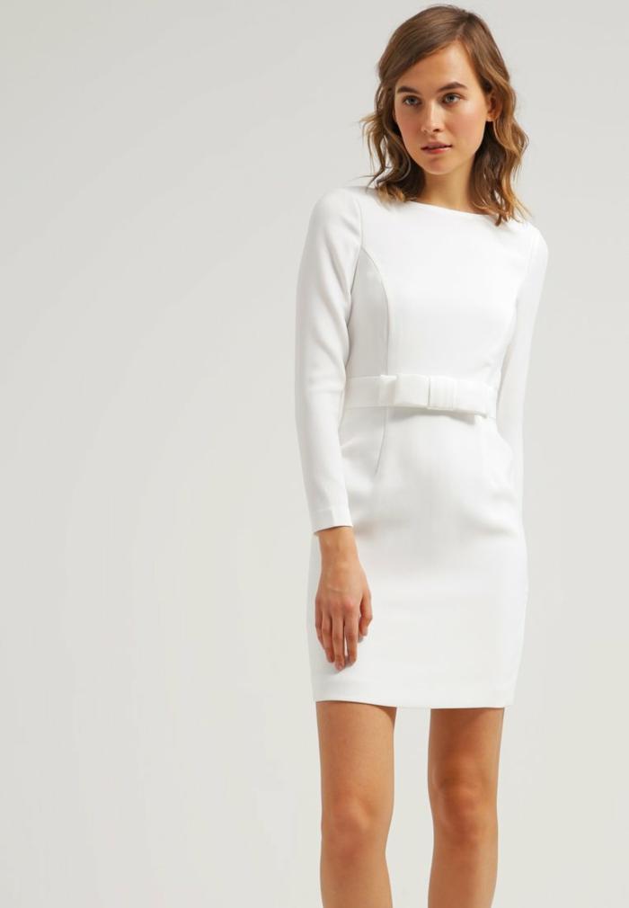 weiße klieder weißes kleid zalando damen mode 80er
