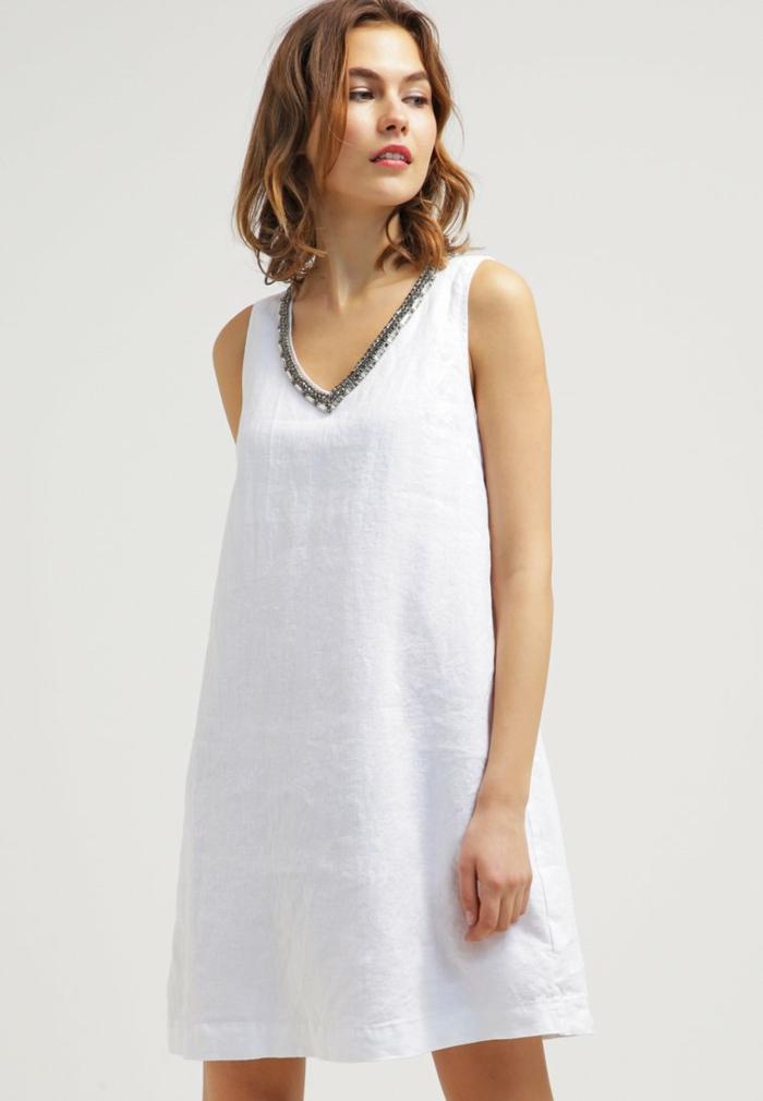 weiße klieder weißes kleid zalando damen mode bequem