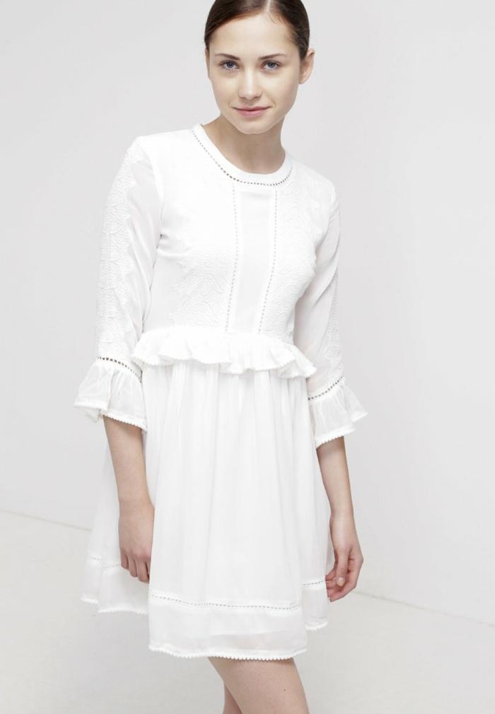 weiße klieder weißes kleid zalando damen mode edel
