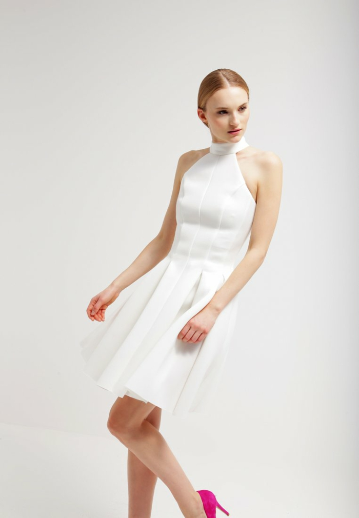 weiße klieder weißes kleid  zalando damen mode  effektovll