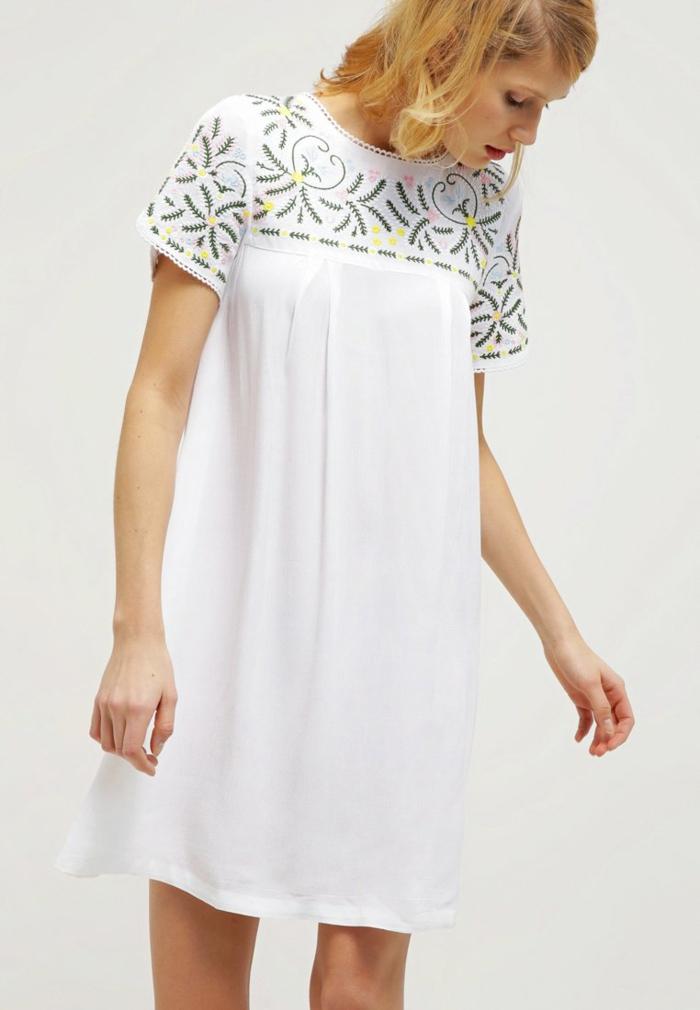 weiße klieder weißes kleid zalando damen mode hippie