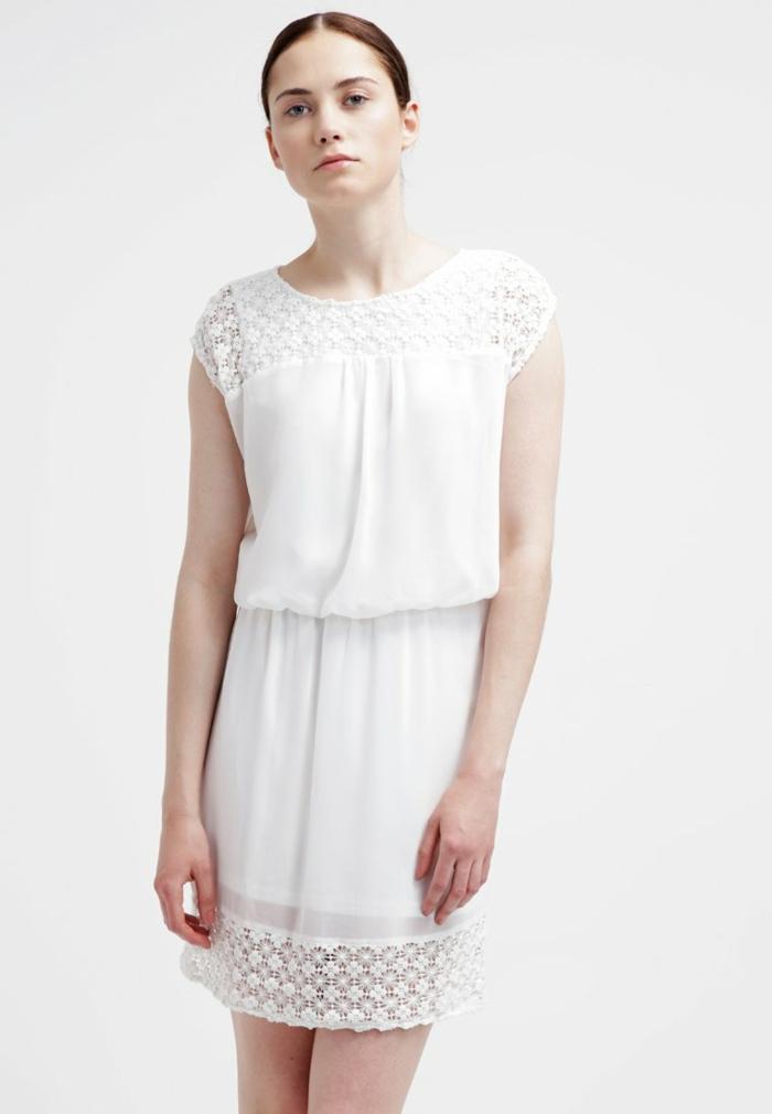 weiße klieder weißes kleid zalando damen mode mädchenhaft