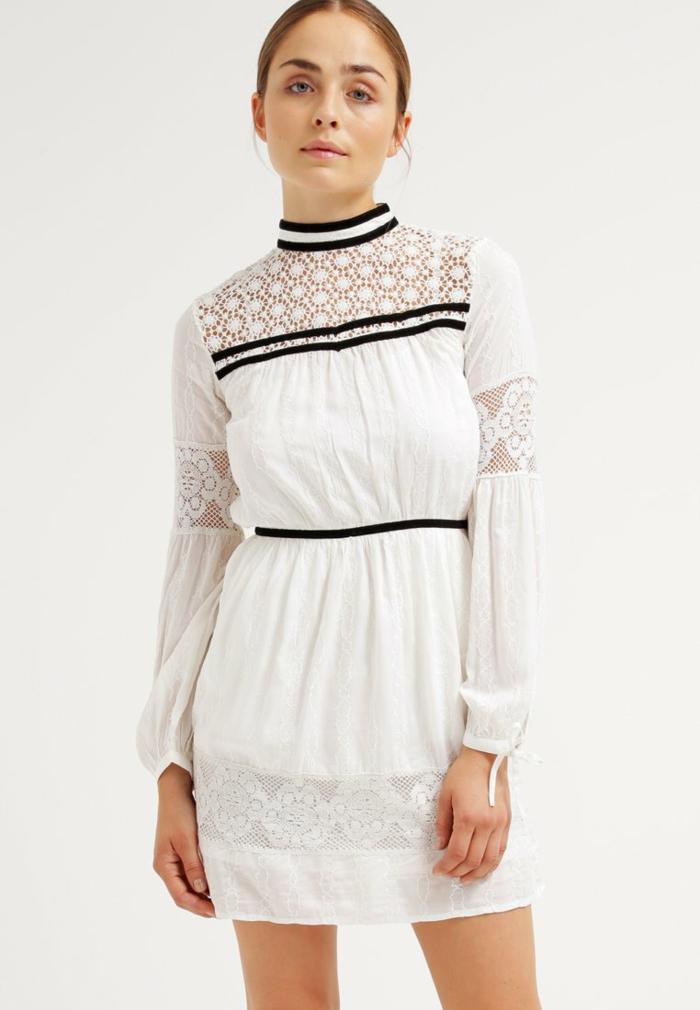 weiße klieder weißes kleid zalando damen mode mischstil