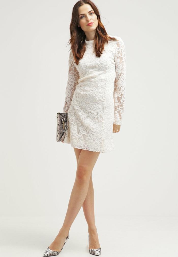 weiße klieder weißes kleid zalando damen mode mutig