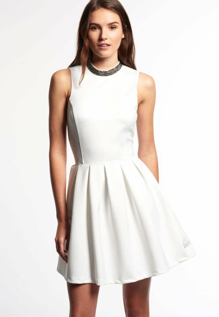 weiße klieder weißes  kleid zalando damen mode rockig
