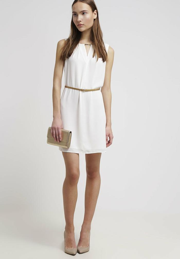 weiße klieder  weißes kleid zalando damen mode sehr zart