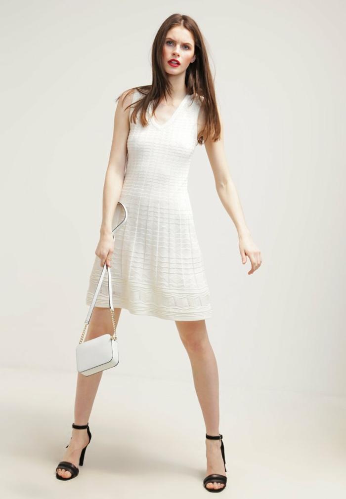 weiße klieder weißes kleid zalando damen mode selbstbewusst