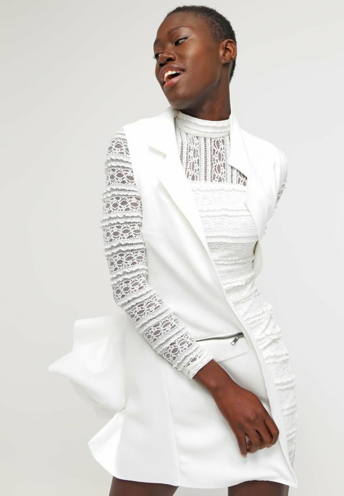 weiße klieder weißes kleid zalando damen mode verspielt